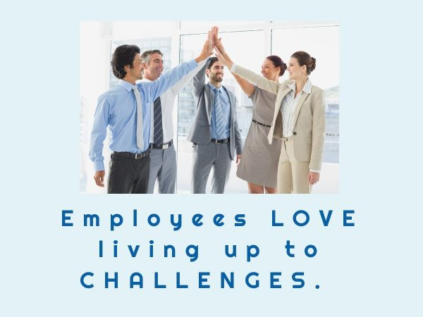 Give employees challenges for growth opportunities and better employee engagement.
