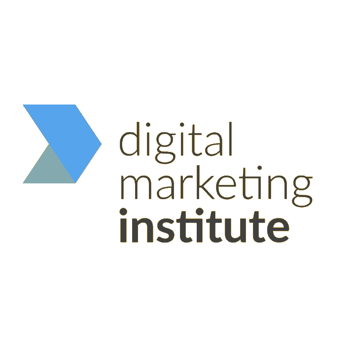 Digital Marketing Institute logo- yellow border on texts