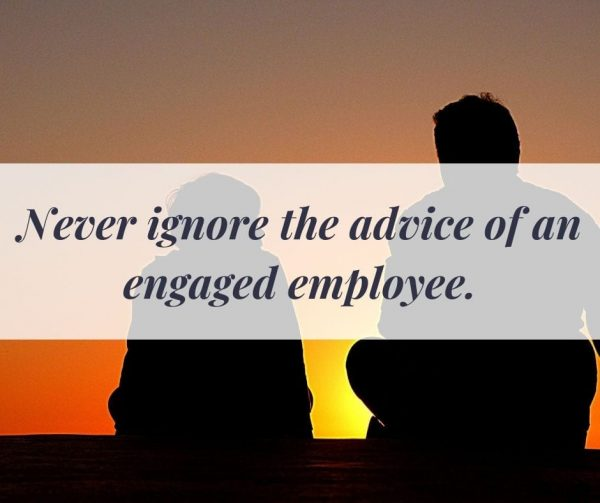 Let them have a say in how other departments work to improve employee engagement.