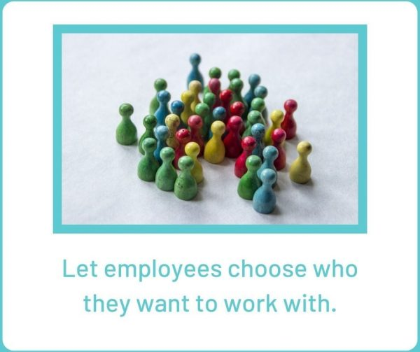 Give people more control over their teamwork decisions to improve employee engagement.