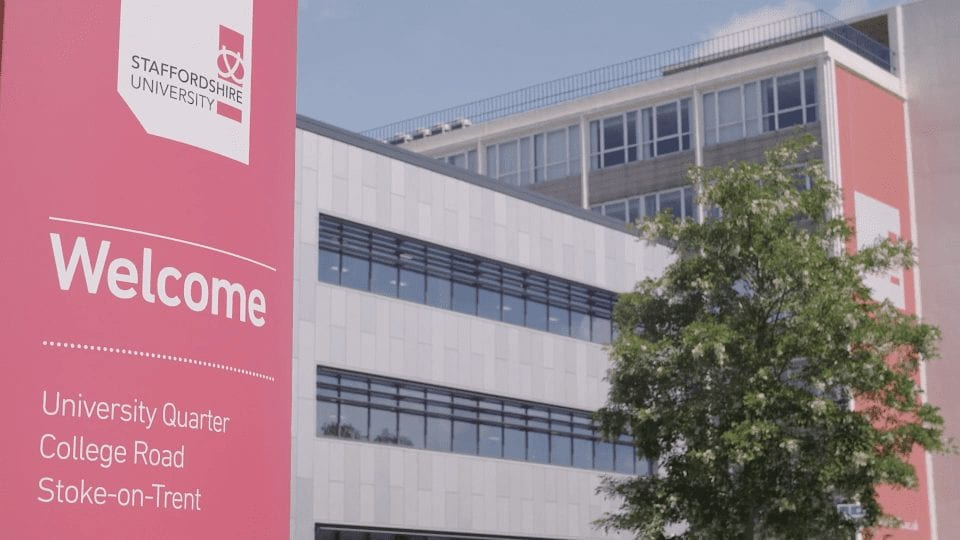 image of Staffordshire University- Welcome sign