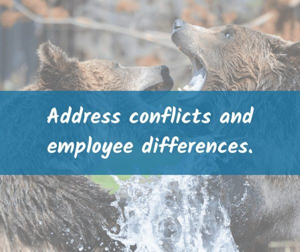 Work on solving employee differences to improve employee engagement.